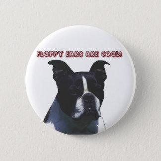 Boston Terrier:  De slappe Oren zijn Koel! Ronde Button 5,7 Cm
