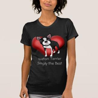 Boston Terrier eenvoudig het Beste T Shirt