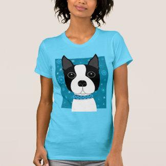 Boston Terrier in de Winter T Shirt