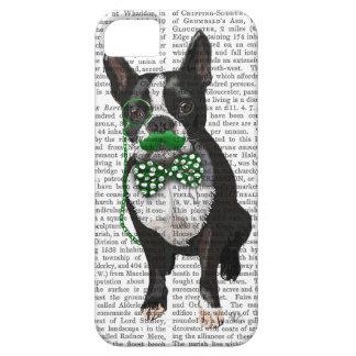 Boston Terrier met Groene Snor en Spotty Barely There iPhone 5 Hoesje