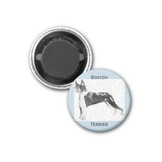 Boston Terrier Ronde Magneet 3,2 Cm