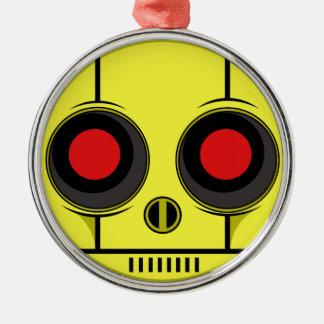 Bot Gezicht Zilverkleurig Rond Ornament