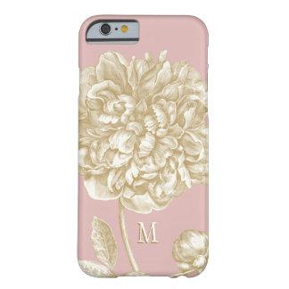 Botanisch, de Roze Bloem van de pioen en Goud Met Barely There iPhone 6 Hoesje