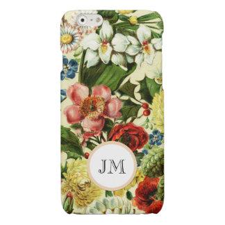 Botanisch de tuinmonogram van de wildflowerzomer iPhone 6 hoesje glanzend
