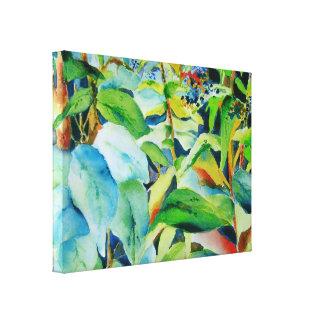 Botanische Druk 24 x 18 van het Canvas van Bladere Canvas Print