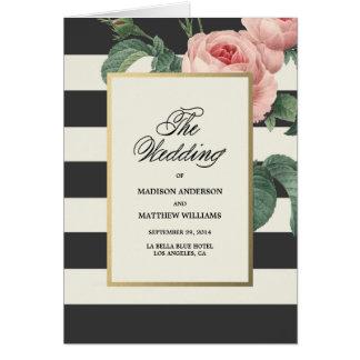 Botanische Glamour | Programma van het Huwelijk Wenskaart