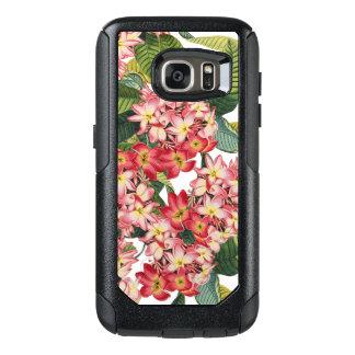 Botanische Plumeria bloeit het BloemenHoesje van OtterBox Samsung Galaxy S7 Hoesje