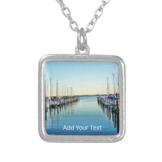Boten bij de Jachthaven door Shirley Taylor Zilver Vergulden Ketting