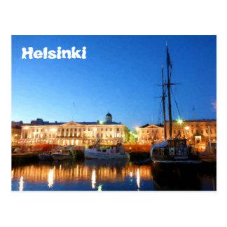 Boten bij het Vierkant van de Markt van Helsinki Briefkaart