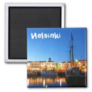 Boten bij het Vierkant van de Markt van Helsinki Magneet