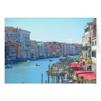 Boten in de Kanalen van Venetië Italië Wenskaart