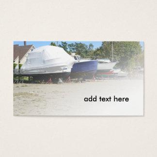 boten in droogdok visitekaartjes