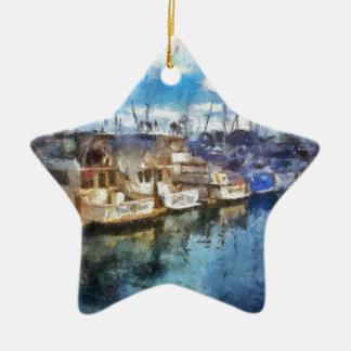 Boten in Punt Dana Keramisch Ster Ornament