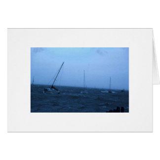 Boten in Storm Wenskaart