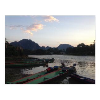Boten in Vang Vieng Briefkaart