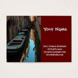 Boten op de Gebouwen van Venetië Italië van het Visitekaartjes
