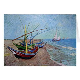 """""""Boten op het Strand in saintes-Maries"""" door Van Kaart"""