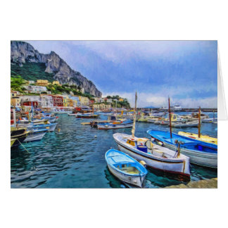 Boten van de Italiaanse Spatie van de Kunst van de Briefkaarten 0