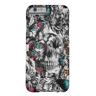 Boter en bot, bloemenschedelpatroon barely there iPhone 6 hoesje