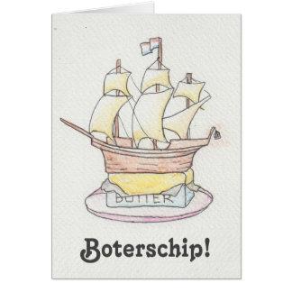 Boterschip!  Grappige beterschapskaart met schip Wenskaart