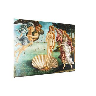BOTTICELLI- de geboorte van Venus 1483 Canvas Afdruk