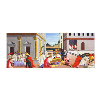 Botticelli Drie Mirakelen van Heilige Zenobius Canvas Print