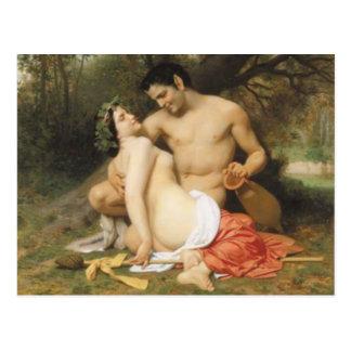 Bouguereau - Faune et Bacchante Briefkaart