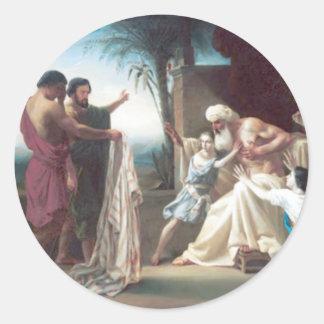 Bouguereau - Jacob Recevant le Tunique DE zoon Ronde Sticker