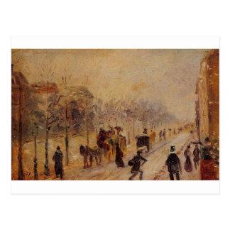 Boulevard des Batignolles door Camille Pissarro Briefkaart
