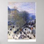 Boulevard des Capucines door Claude Monet Poster