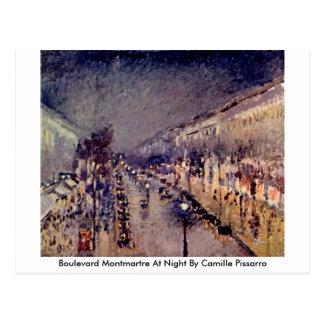 Boulevard Montmartre bij Nacht door Camille Briefkaart
