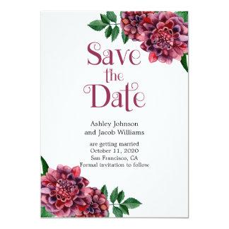 Bourgondië bewaart de het huwelijksaankondiging 12,7x17,8 uitnodiging kaart