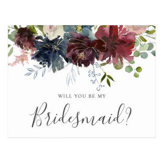 Bourgondië en Blauwe Bloemen zullen u Mijn Briefkaart