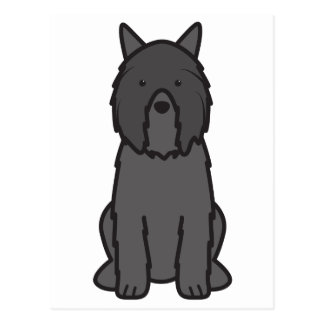 Bouvier des Flandres Dog Cartoon Briefkaart