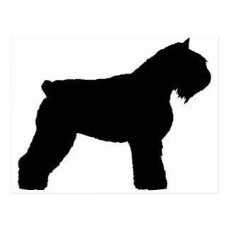 Bouvier des Flandres Dog (in zwarte) Briefkaart