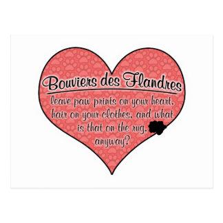 Bouvier des Flandres Paw drukt de Humor van de Briefkaart