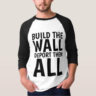 BOUW de MUUR DEPORTEREN HEN ALLEN, Donald Trump T Shirt