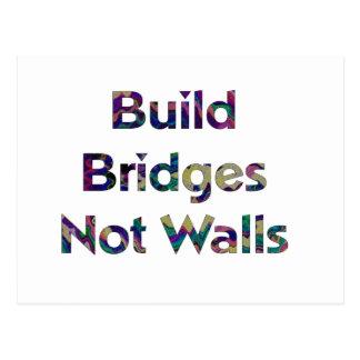 Bouw het briefkaart van bruggen niet muren