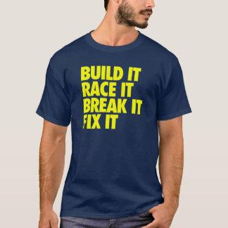 Bouw het Ras het Onderbreking het Moeilijke T Shirt