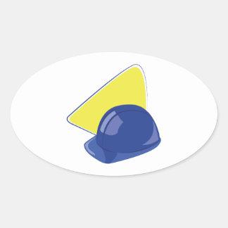 Bouwvakker Ovale Sticker