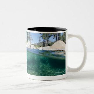 Boven en onder Meer Tahoe Tweekleurige Koffiemok