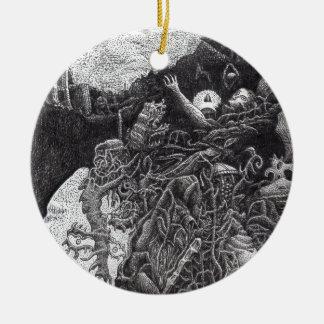 Boven & hieronder door Brian Benson Rond Keramisch Ornament
