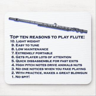 Bovenkant 10 van de fluit muismatten