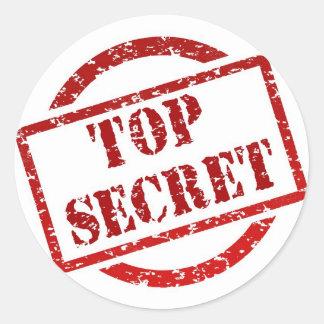 Bovenkant - de geheime Klassieke Ronde Glanzende Ronde Stickers