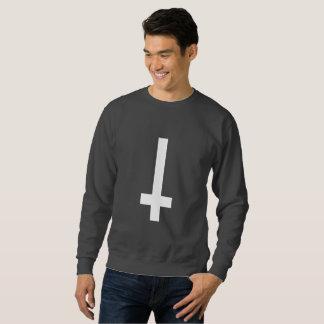 bovenkant - onderaan dwars mannen sweatshirt