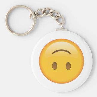 Bovenkant - onderaan Gezicht - Emoji Sleutelhanger