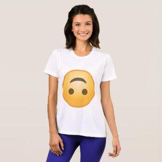 Bovenkant - onderaan Glimlach Emoji T Shirt