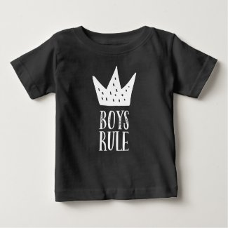 Boys rule baby t shirts