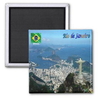 BR - Brazilië - Rio de Janeiro Vierkante Magneet