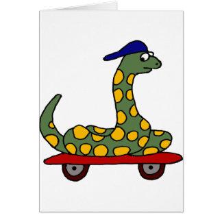 BR- Constrictor van de boa het Met een skateboard Briefkaarten 0